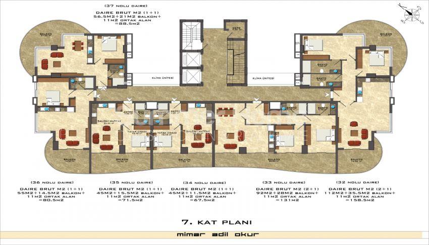 阿拉尼亚/马赫穆特拉尔海滨的高档公寓 plan - 1