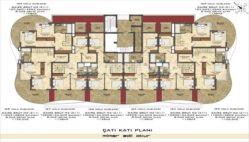 阿拉尼亚/马赫穆特拉尔海滨的高档公寓 plan - 2