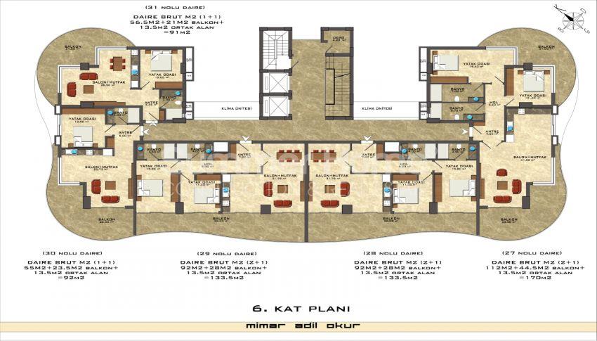 阿拉尼亚/马赫穆特拉尔海滨的高档公寓 plan - 3