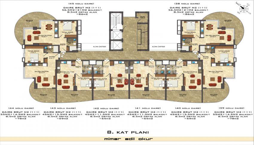 阿拉尼亚/马赫穆特拉尔海滨的高档公寓 plan - 4