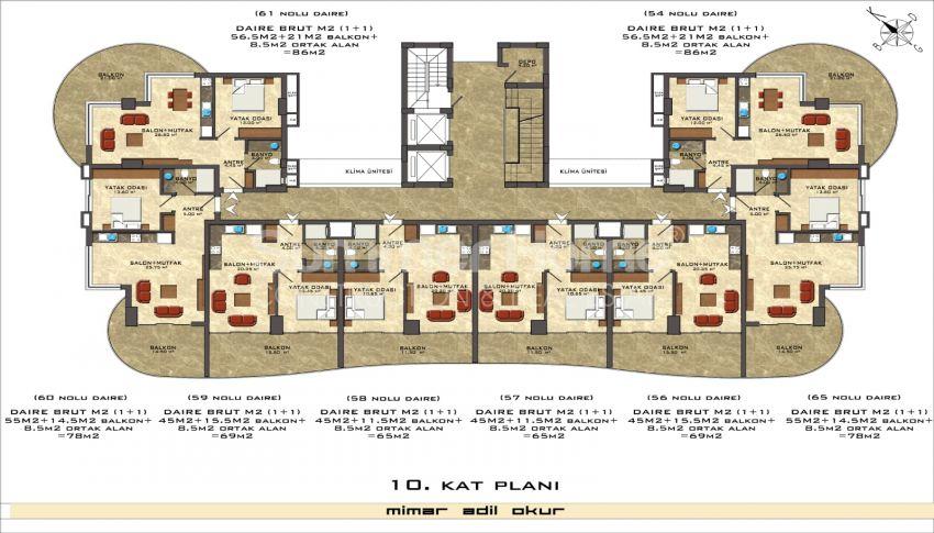 阿拉尼亚/马赫穆特拉尔海滨的高档公寓 plan - 5