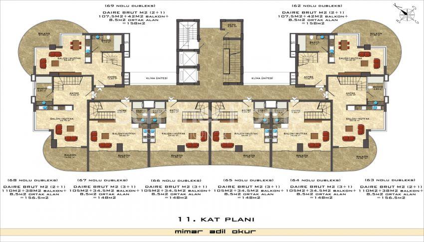 阿拉尼亚/马赫穆特拉尔海滨的高档公寓 plan - 6