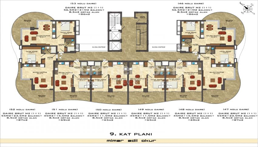 阿拉尼亚/马赫穆特拉尔海滨的高档公寓 plan - 7