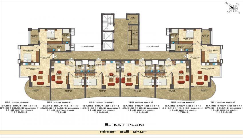 阿拉尼亚/马赫穆特拉尔海滨的高档公寓 plan - 8
