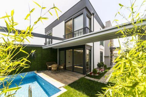 Nádherné vily s moderným dizajnom v oblasti Lara, Antalya