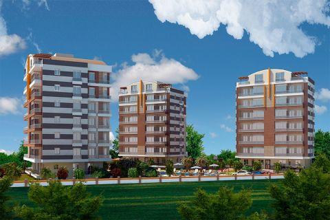 New Complex Built Between The Untouched Green Areas in Gocherler, Antalya