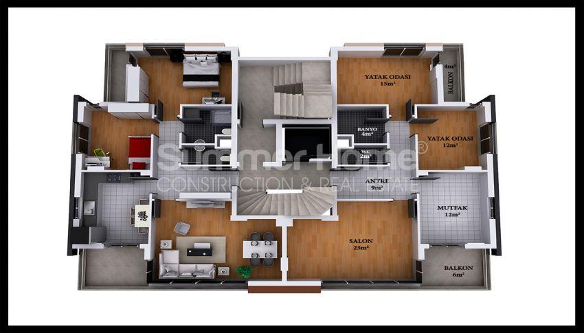安塔利亚/戈切勒地区的天然绿地间的崭新住宅区 plan - 1