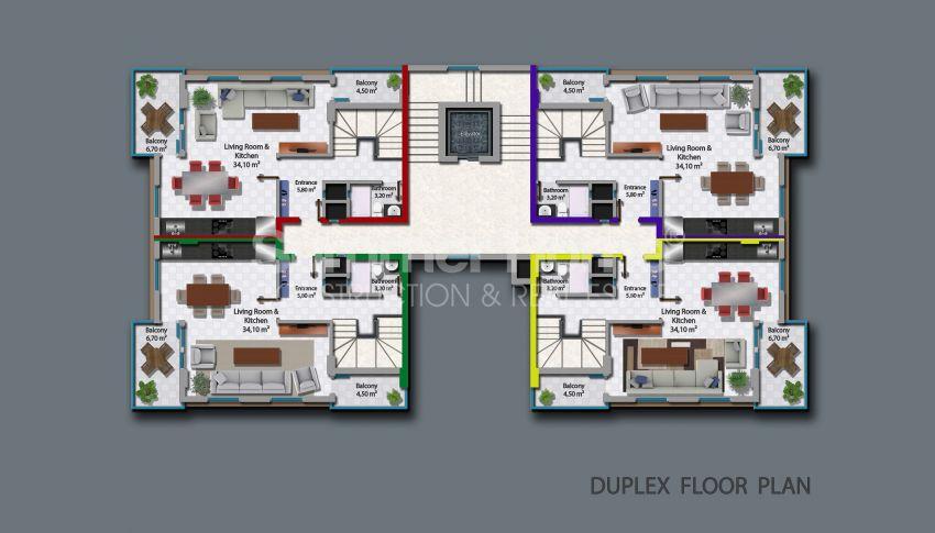 آپارتمانهای زیبا برای فروش در محموتلر آلانیا plan - 1