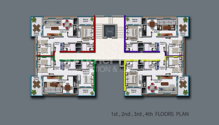 آپارتمانهای زیبا برای فروش در محموتلر آلانیا plan - 2
