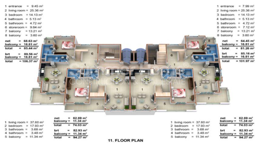 Günstig und geräumig:  Wohnung in Mahmutlar, Alanya zum Verkauf plan - 1