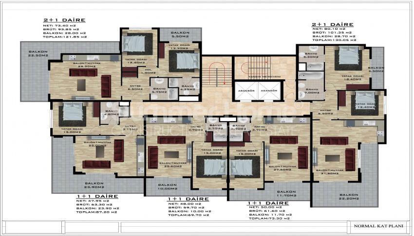 阿拉尼亚/卡吉科克的美丽待售公寓 plan - 2