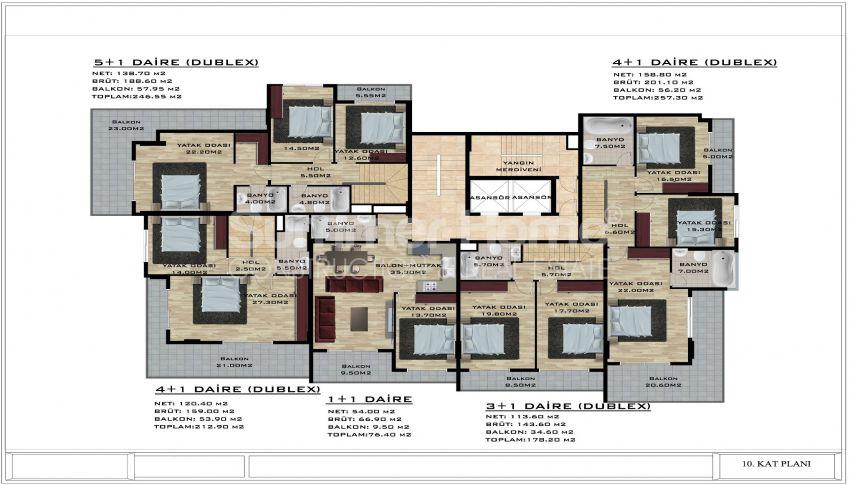 阿拉尼亚/卡吉科克的美丽待售公寓 plan - 4