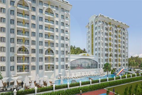 Gloednieuwe en mooi ontworpen appartementen in Avsallar, Alanya