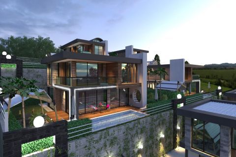 New Villas With Panoramic View For Sale in Kargicak, Alanya