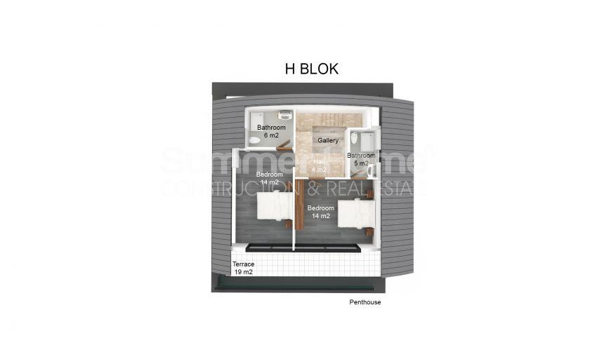 حراج ویلاهای جدید با نمای پانوراما در کارگیجاک، آلانیا plan - 2