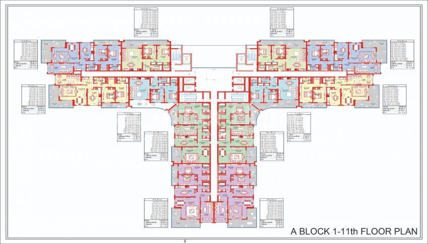 Ruime en betaalbare appartementen te koop in een stadachtig complex plan - 2