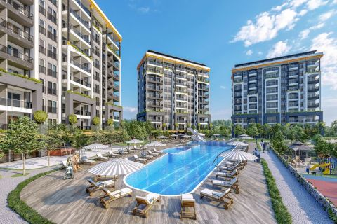 Brand New Apartments For Sale in a Nice Complex in Avsallar, Alanya