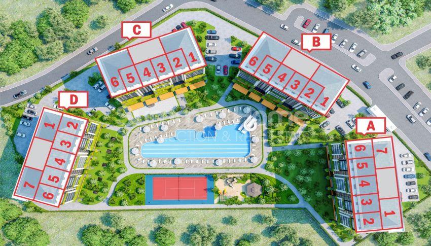 آپارتمان نوساز برای فروش در مجتمع زیبا در آوسالار، آلانیا plan - 1