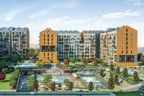 Elegante appartementen met verschillende faciliteiten en een prachtig uitzicht op zee in Avcilar, Istanbul