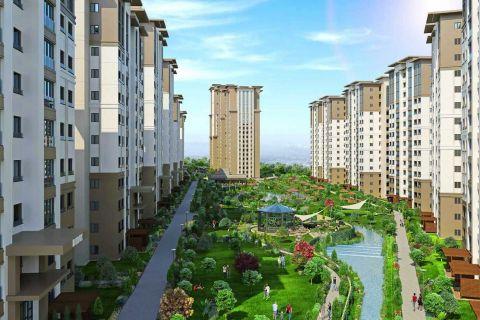 Gloednieuw complex met luxe en moderne designappartementen in het nieuwe centrum van Istanbul, Bahcesehir