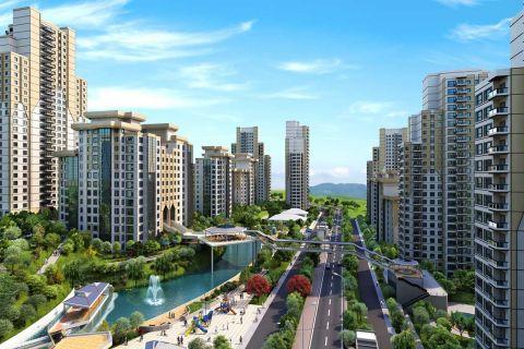 Spotprijs appartementen omgeven door groen landschap in het centrum van Istanbul, Bahcesehir