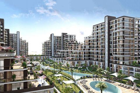 Ylelliset huoneistot, modernilla muotoilulla, kaupunki kompleksissa Beylikduzu, Istanbul