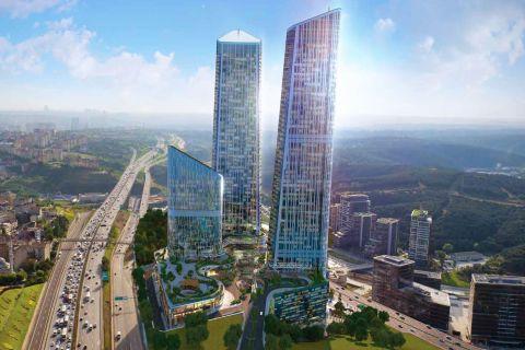Helt nya och Deluxe-Torn med 360-graders Utsikt över Istanbul i Maslak, Istanbul