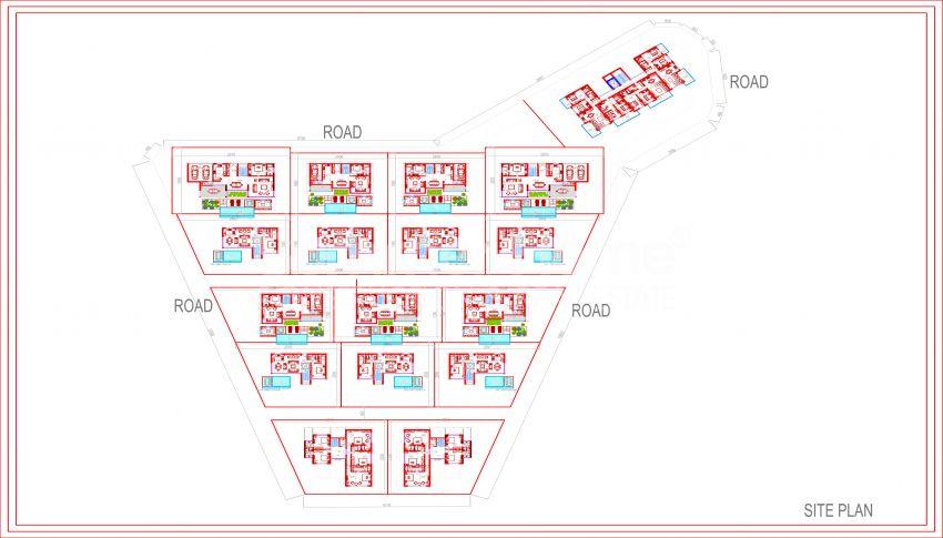 Meerblick-Wohnungen in Kargicak, Alanya plan - 1
