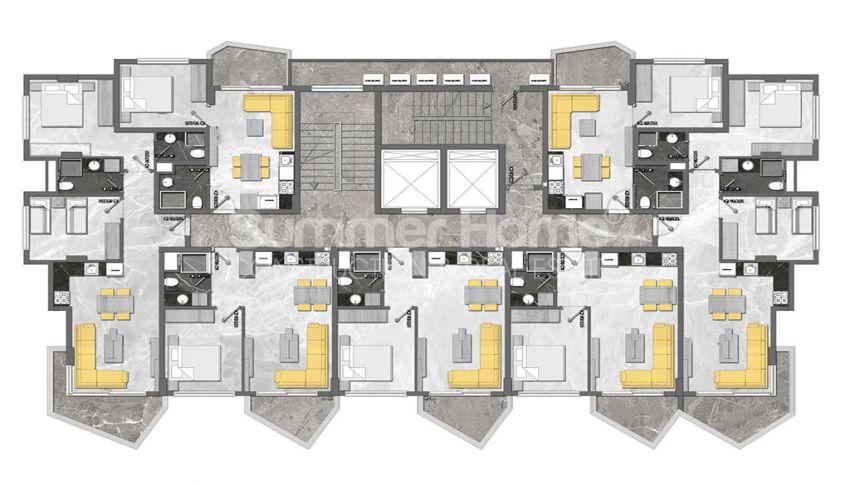 Complexe unique à Mahmutlar plan - 3