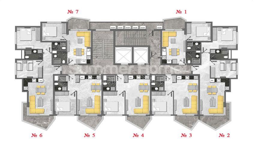 Complexe unique à Mahmutlar plan - 6