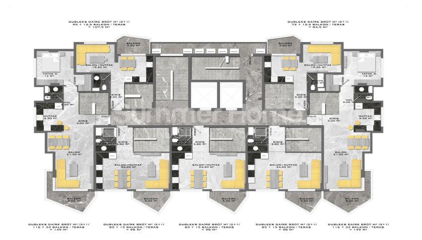 Complexe unique à Mahmutlar plan - 8