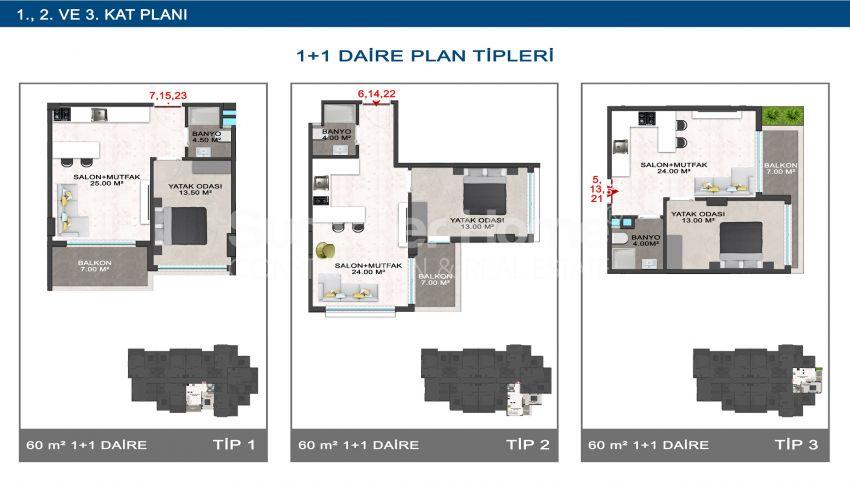 Elegante Meerblick-Wohnungen in Kargicak, Alanya plan - 1