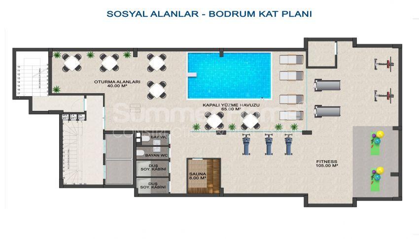 Elegante Meerblick-Wohnungen in Kargicak, Alanya plan - 4
