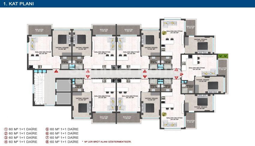 Elegante Meerblick-Wohnungen in Kargicak, Alanya plan - 5