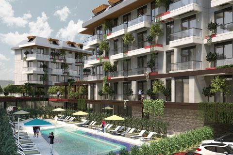 Lejligheder i Green Paradise i Oba, Alanya