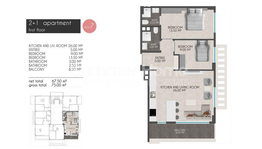 凯斯特尔的迷人海滨公寓 plan - 2