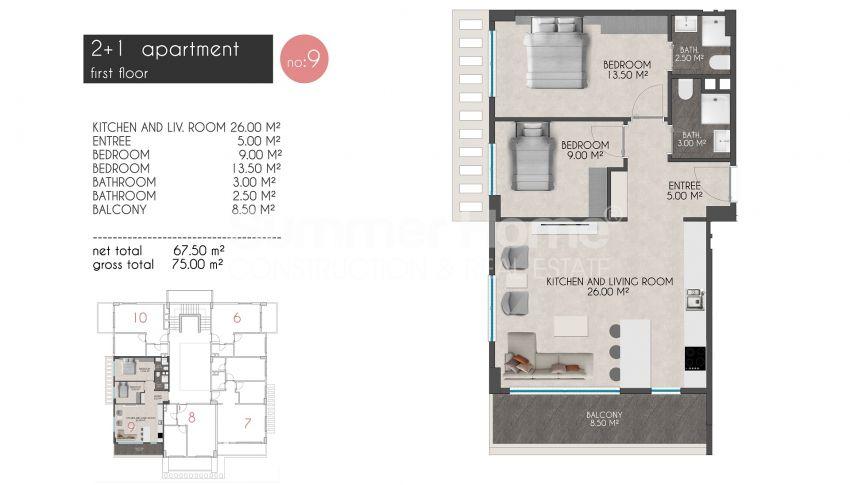 凯斯特尔的迷人海滨公寓 plan - 4