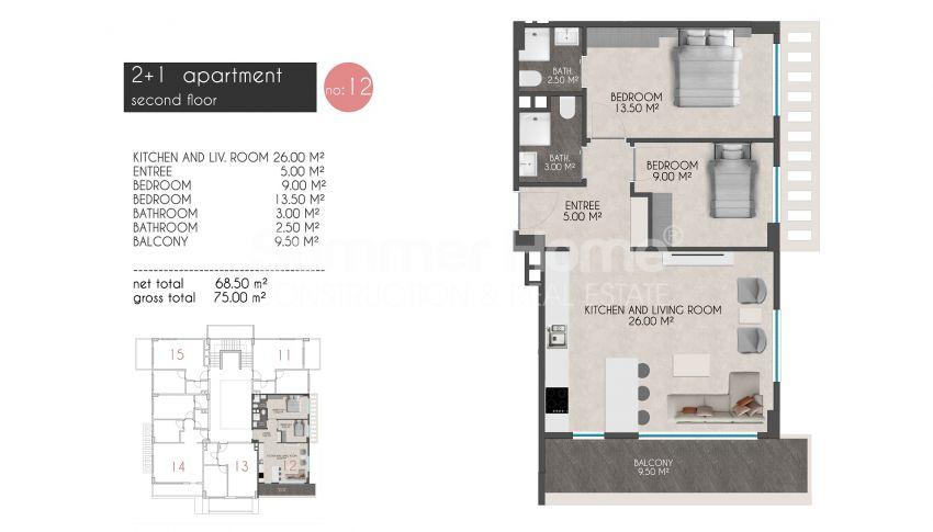 凯斯特尔的迷人海滨公寓 plan - 5