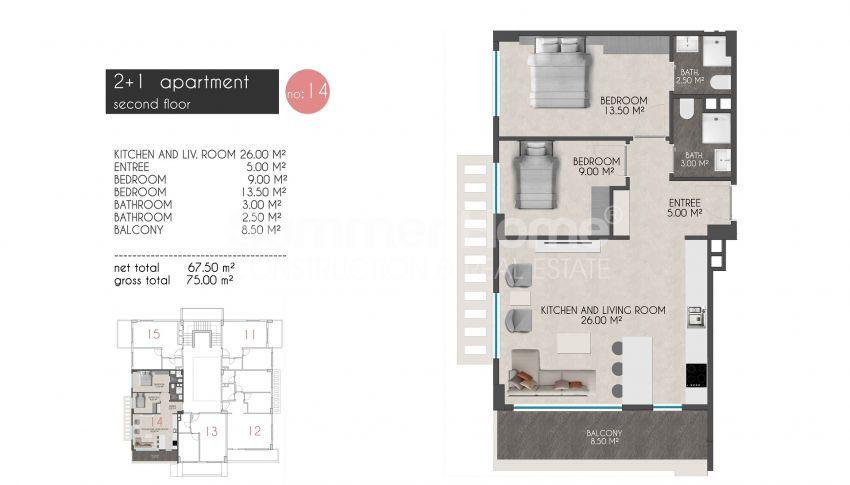 凯斯特尔的迷人海滨公寓 plan - 7