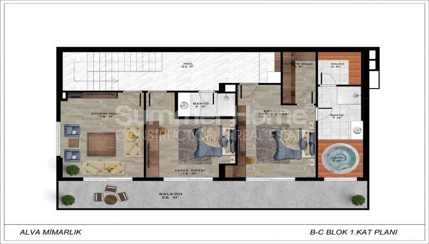 Geräumige Villa mit Meerblick in Bektaş plan - 4