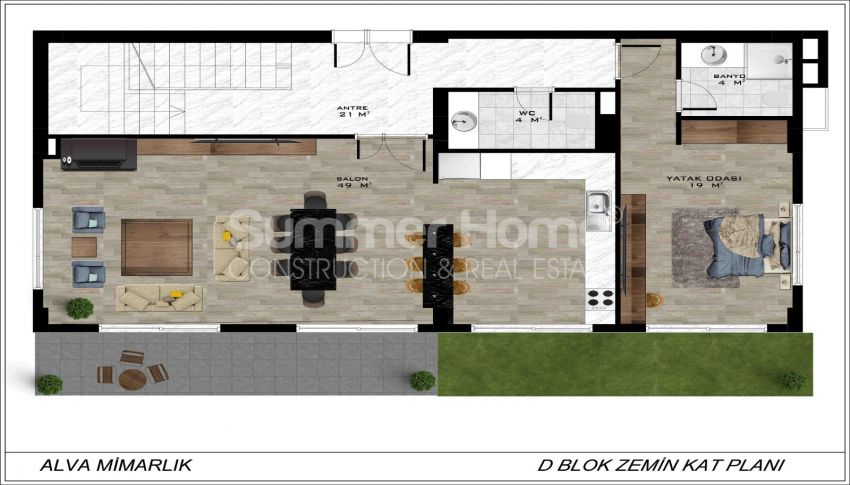 Geräumige Villa mit Meerblick in Bektaş plan - 6