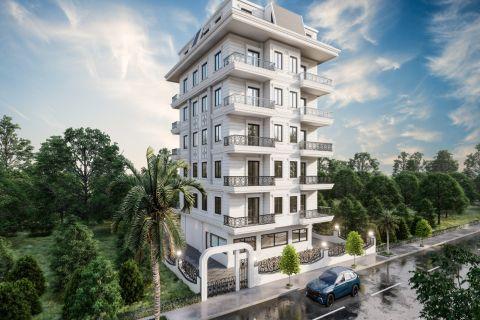 Brand new apartments in a convenient area in Mahmutlar