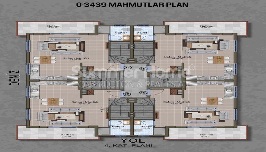 Brandneue Apartments in einer günstigen Gegend in Mahmutlar plan - 2