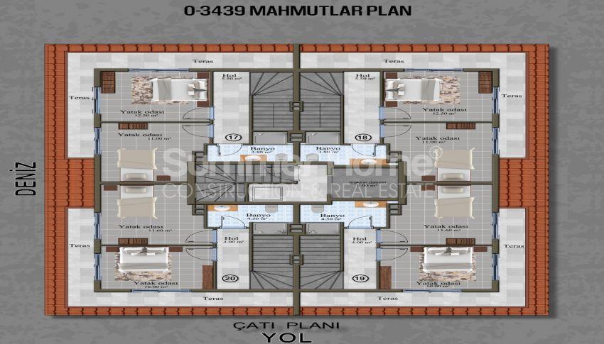 Brandneue Apartments in einer günstigen Gegend in Mahmutlar plan - 3