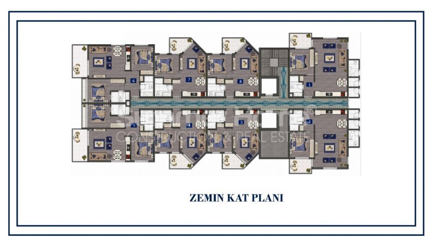Preiswerte Apartments am Meer plan - 2