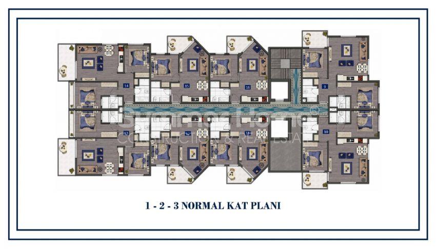 Preiswerte Apartments am Meer plan - 3