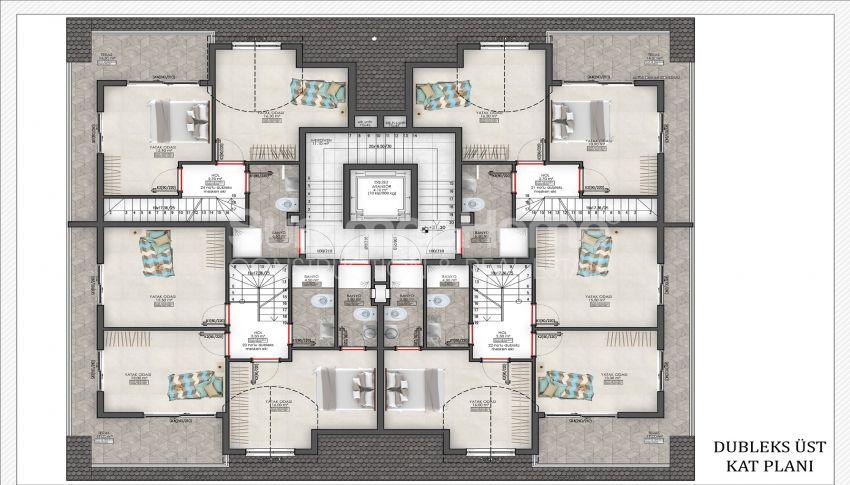 مجمع بلو اكسنت مع خيارات شقق مختلفة في محمودلار plan - 1