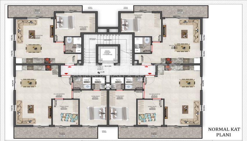 مجمع بلو اكسنت مع خيارات شقق مختلفة في محمودلار plan - 2
