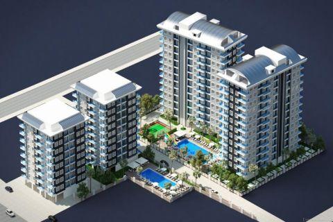 Komplex med många alternativ till salu i Mahmutlar