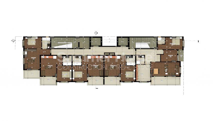 شقة بغرفة نوم واحدة بأسعار معقولة في أفسالار plan - 1